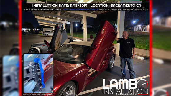 Installer | Eikon Motorsports Inc. | Mobile Installer | Mobile installer of Vertical Doors, Inc. vertical lambo doors conversion kit.