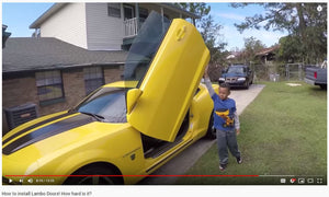 Installation | stuffwithStephen | YouTube Channel | installation of a Vertical Doors, Inc., vertical lambo doors conversion kit.