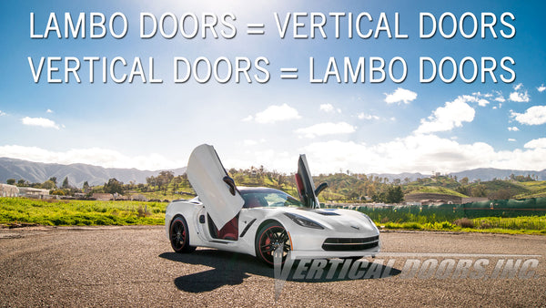 LAMBO DOORS IS ANOTHER TERM FOR VERTICAL DOORS