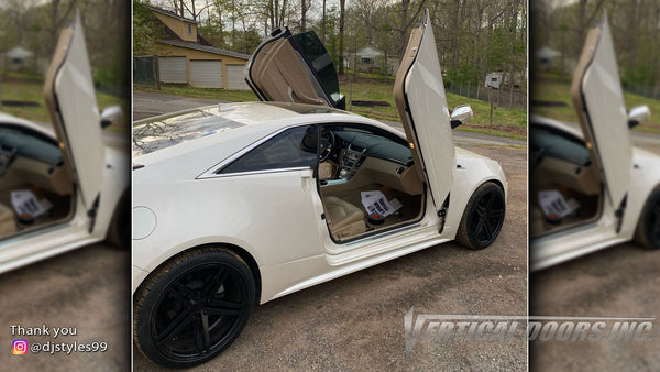 Check out @djstyles99 Cadillac CTS featuring Vertical Doors, Inc., vertical lambo doors conversion kits.