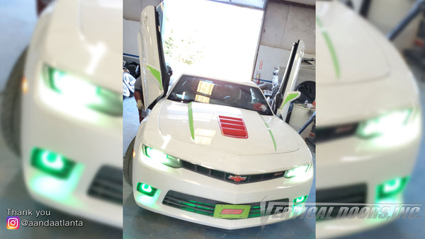 Installer | A and A Atlanta Automotive | Conyers, GA | Chevrolet Camaro with Vertical lambo door conversion kit by Vertical Doors, Inc.