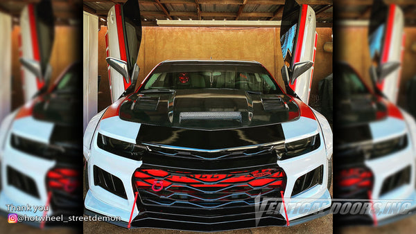 Check out Jacob's @hotwheel_streetdemon Chevrolet Camaro from New Mexico with Vertical Lambo Doors Conversion Kit for Vertical Doors, Inc.