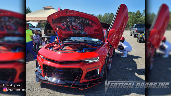 Check out Brian's @prime_maro_ls15 2015 Chevrolet Camaro from Georgia featuring Vertical Lambo Doors Conversion Kit from Vertical Doors, Inc.