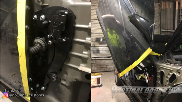 Installer | No Limit Customs | Gonzales, LA | 5th Gen Chevrolet Camaro with Vertical Lambo Doors Conversion Kit for Vertical Doors, Inc.