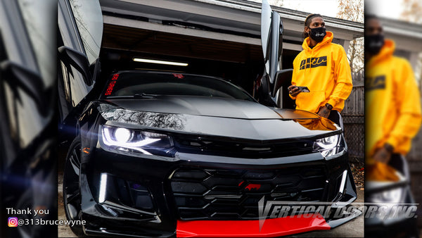 Check out Seithae's @313brucewyne 6th Gen Chevrolet Camaro from Michigan with Vertical Lambo Doors Conversion Kit for Vertical Do