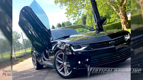 Check out Seithae's @313brucewyne 6th Gen Chevrolet Camaro from Michigan with Vertical Lambo Doors Conversion Kit for Vertical Doors, Inc.