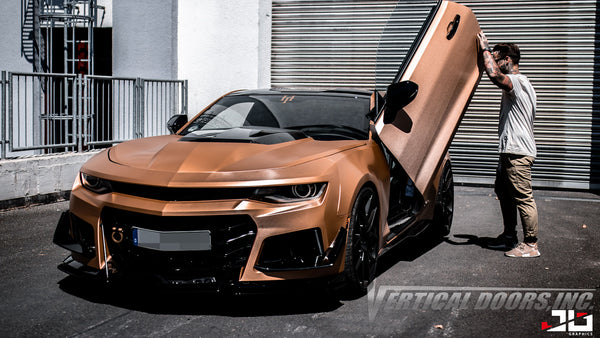 Check out Roberto's 6th Gen Chevrolet Camaro with Vertical Lambo Doors Conversion Kit for Vertical Doors, Inc.