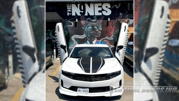 Check out Preston's 6th Gen Chevrolet Camaro from Texas with Vertical Lambo Doors Conversion Kit for Vertical Doors, Inc.