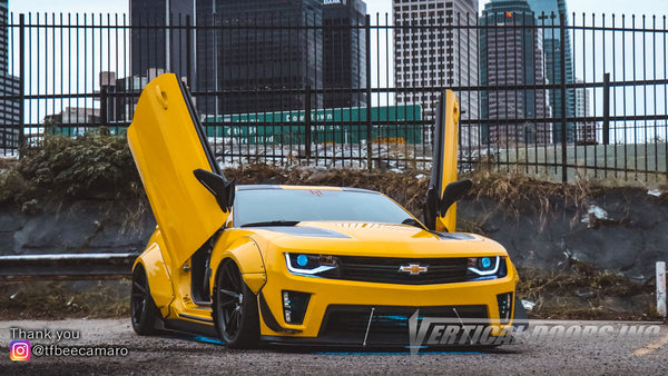 Check out Kaiden's @tfbeecamaro Chevrolet Camaro 2SS from California featuring Vertical Lambo Doors Conversion Kit from Vertical Doors, Inc.