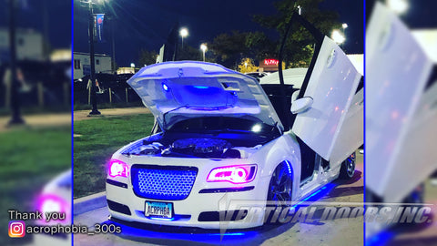 Jamie's Chrysler 300 featuring Front and Rear Vertical Lambo Doors from Vertical Doors, Inc.