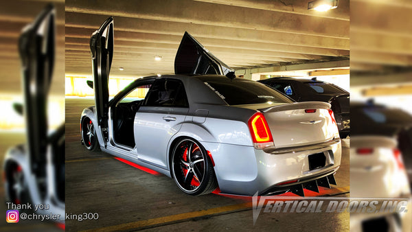 Check out James's @chrysler_king300 Chrysler 300 from South Carolina, featuring Vertical Lambo Doors Conversion Kit from Vertical Doors, Inc.