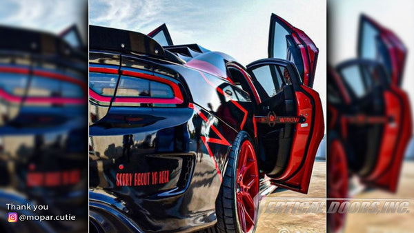Check out @mopar.cutie Dodge Charger from Colorado featuring Vertical Lambo Doors Conversion Kit from Vertical Doors, Inc.