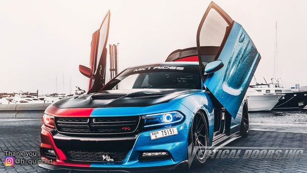 Check out Prabhu's @h_quinn.rt Dodge Charger from Dubai United Arab Emirates featuring Lambo Door Conversion Kit by Vertical Doors Inc.