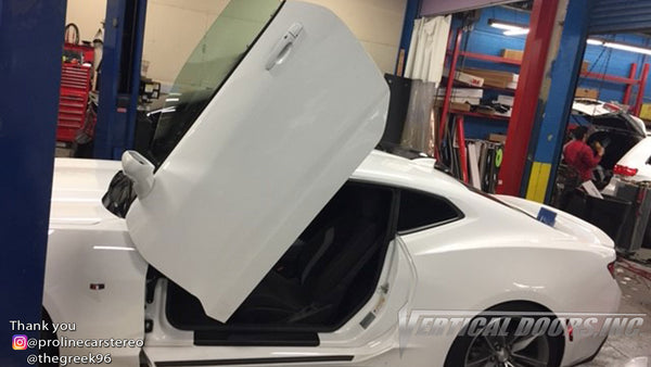 Installer | Proline Car Stereo | Brooklyn, NY | 5th Gen Chevrolet Camaro with Vertical Lambo Doors Conversion Kit for Vertical Doors, Inc.