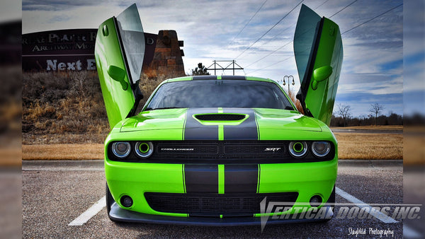 Check out Josue's @Salviboy_srt392 Sublime Dodge Challenger Lambo Door Conversion Kit by Vertical Doors Inc.
