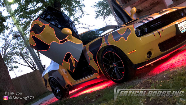 Check out Shawn's @Shawng773 Dodge Challenger from Illinois featuring Lambo Door Conversion Kit by Vertical Doors Inc.