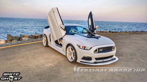 "Bakri's 2016 Ford Mustang ""White Ghost"" Featuring Vertical Lambo Doors from Vertical Doors, Inc."