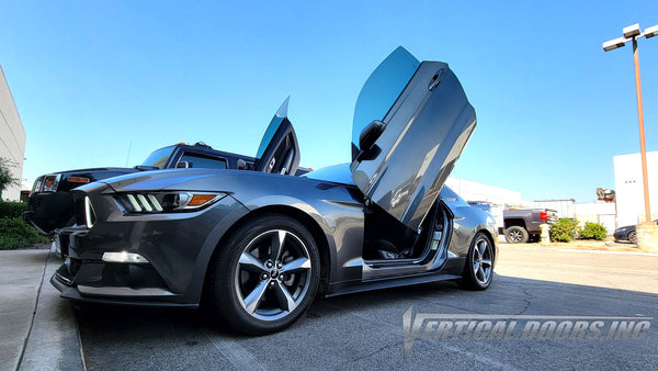 Ford Mustang from California featuring Vertical Lambo Doors Conversion Kit from Vertical Doors, Inc.