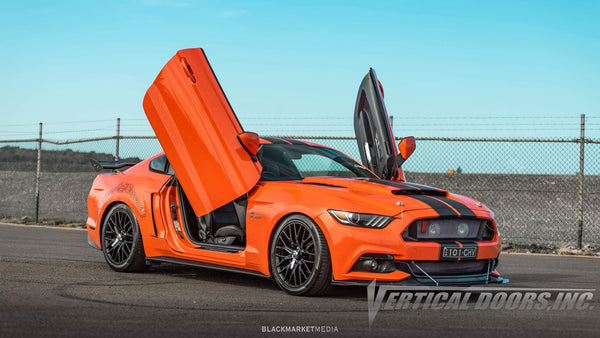 Installer   Xpiggy Customs   Wollo NSW Australia   Ford Mustang featuring Vertical Lambo Doors Conversion Kit from Vertical Doors, Inc.