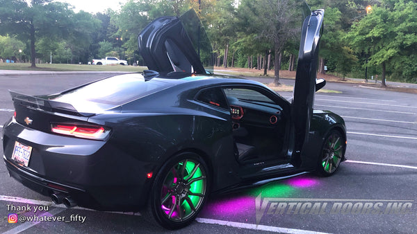Check out Maurice @whatever_fifty Chevy Camaro from North Carolina featuring Vertical Lambo Doors Conversion Kit by Vertical Doors, Inc.