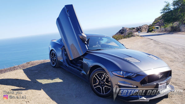 Check out Ray's @n.e.l.a1 Ford Mustang from California featuring Vertical Lambo Doors Conversion Kit from Vertical Doors, Inc.