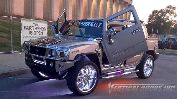 Check out Aaron's Hummer H2 featuring Vertical Lambo Doors Conversion Kit from Vertical Doors, Inc.