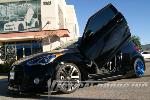 Brice's 2014 Hyundai Veloster Turbo with Vertical Lambo Door Conversion Kit