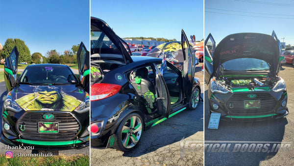 Check out @shomarihulk Hyundai Veloster from Virginia featuring Vertical Lambo Doors Conversion Kits from Vertical Doors, Inc.
