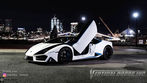 Check out George's @lambo_lethal Lamborghini Huracan from New Hampshire featuring Lambo Door Conversion Kit by Vertical Doors Inc.