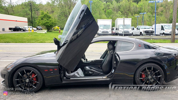 Check out Doug's @teamnutzpgh Maserati GranTurismo from Pennsylvania with Vertical Lambo Doors Conversion Kit for Vertical Doors, Inc.