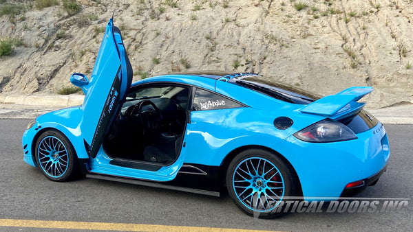 Check out Jero's Mitsubishi Eclipse from Ensenada, Mexico with Vertical Doors, Inc., vertical lambo door conversion kit.