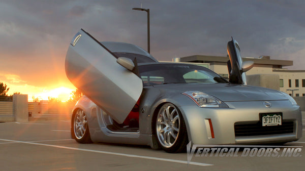 Check out Jimmy's Nissan 350Z from Colorado featuring Vertical Doors, Inc. vertical lambo doors conversion kit.