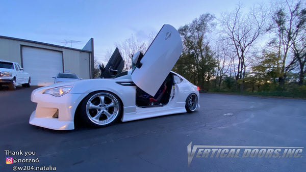Check out @notzn6 Scion FRS featuring Vertical Doors, Inc., vertical lambo doors conversion kit.