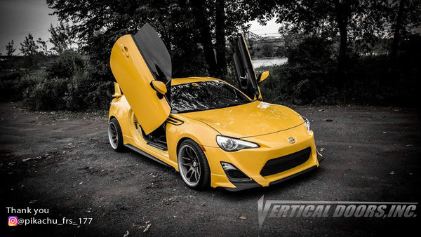 Check out @pikachu_frs_177o Scion FRS from Québec, Canada featuring Vertical Lambo Doors Conversion Kit from Vertical Doors, Inc.