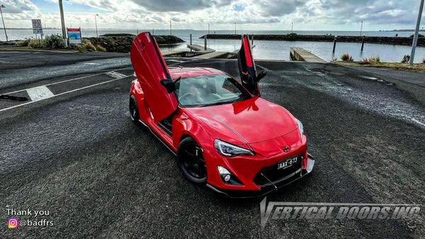 Bahnam's @badfrs Toyota 86 from Australia featuring Vertical Lambo Doors Conversion Kit by Vertical Doors, Inc.