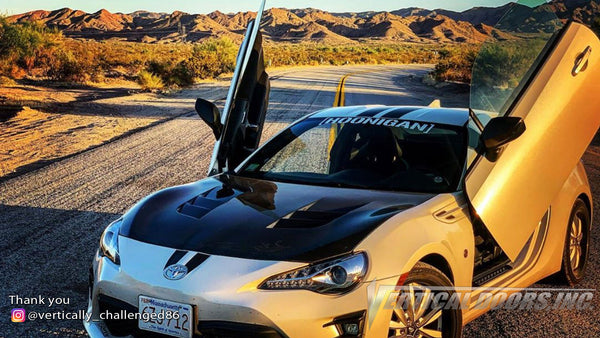 Check out Jared's Toyota 86 @vertically_challenged86 from Massachusetts featuring Vertical Lambo Doors Kit