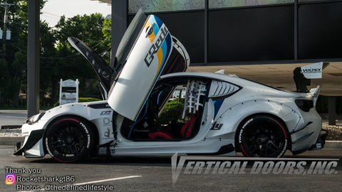 Joaquin's Toyota 86 GT featuring Vertical Lambo Doors Kit and Rocket Bunny wide body kit