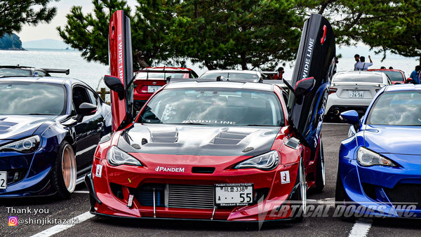 Check out Shinji's Toyota 86 @shinjikitazaki from Japan featuring Vertical Lambo Doors Kit