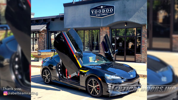 Check out Dave's Toyota 86 @abelteamracing from Colorado featuring Vertical Lambo Doors Kit