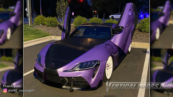 @a90_supragirl Toyota Supra from Maryland featuring Vertical Lambo Doors Conversion Kit from Vertical Doors, Inc.
