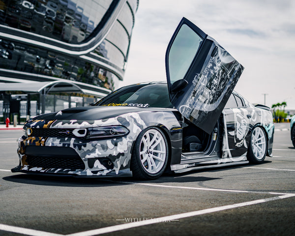 Check out some of Andrew's @withitmedia work from Las Vegas showing off cars with Vertical Doors, Inc., products.