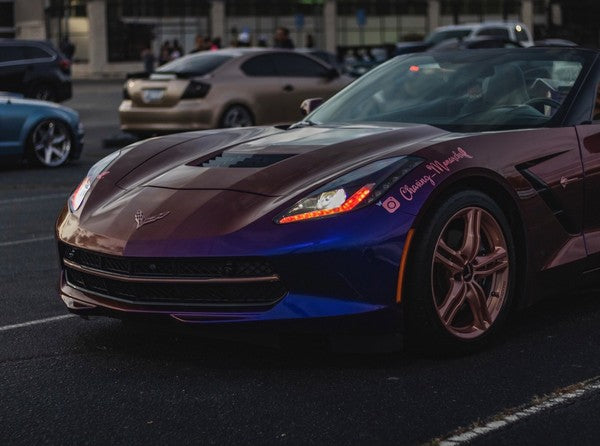 Check out Krissy's @chasing_monarchs Chevrolet Corvette C7 from Georgia  featuring Vertical Doors, Inc., vertical lambo door conversion kits.