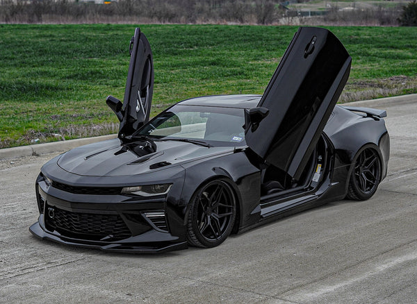 Check out Eli's Chevrolet Camaro 6.2 6thGen from Texas featuring Vertical Lambo Doors Conversion Kit from Vertical Doors, Inc.