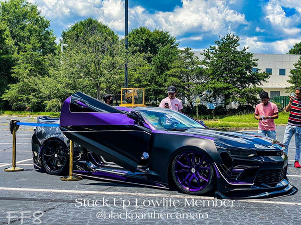 """Stuck Up Lowlife"" members featuring Vertical Doors, Inc., vertical lambo doors conversion kit."
