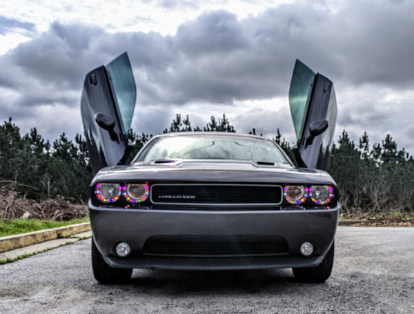 Installer | Mad Creations | Loganville, GA | Dodge Challenger Vertical Doors, Inc., vertical lambo door conversion kit.