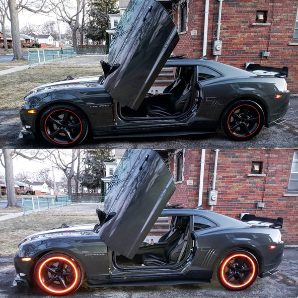 Check out James Chevrolet Camaro 2SS featuring Vertical Doors, Inc. vertical lambo doors conversion kit.