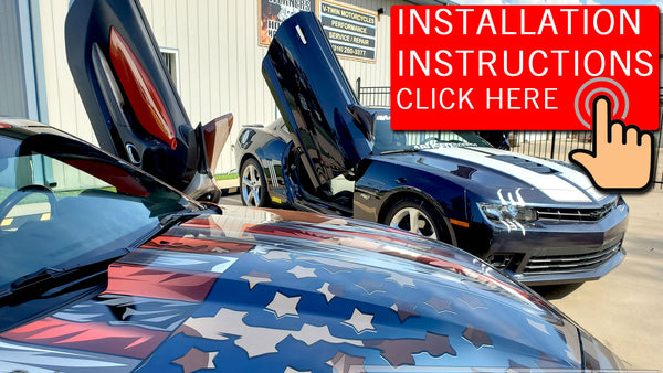 How to Install Vertical Doors, Inc. vertical lambo doors conversion kits