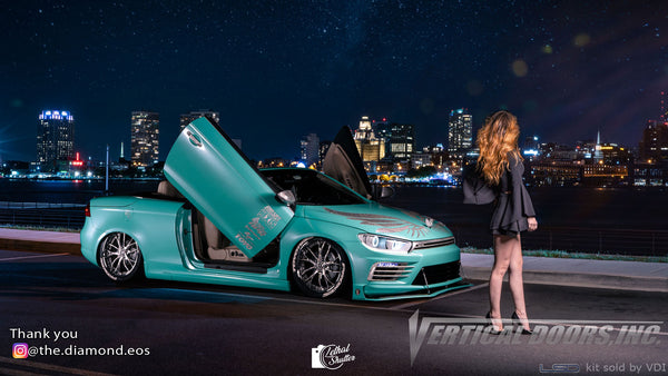 Check out Briana's @the.diamond.eos 2010 VW Eos from Pennsylvania featuring Vertical Lambo Doors Conversion Kit.