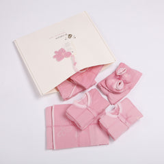 Reversible Fabric Newborn Baby Girl Clothing Startup Kit 14 pc pack