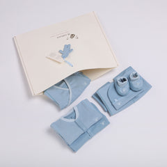 Reversible Fabric Newborn Baby Clothing Startup Kit 8 pc pack
